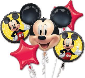 Set di 5 palloncini a forma di Topolino, decorazione per feste di compleanno per bambini o feste a tema, con 5 palloncini in pellicola, motivo Disney