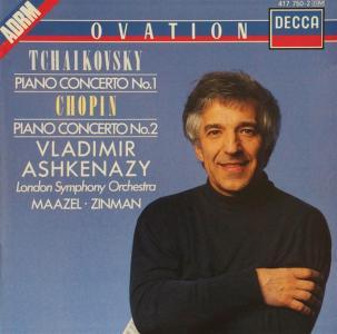 Vladimir Ashkenazy: Plays Tchaikovsky & Chopin Piano Concertos