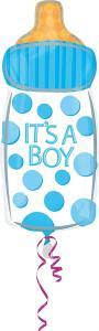 Anagram: Pallone Foil Juniorshape -58 cm Boy Baby Bottle, It's A Boy
