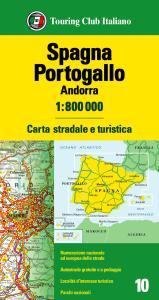 Spagna, Portogallo, Andorra 1:800.000. Carta stradale e turistica