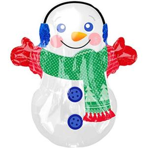 Junior Shape Adorable Snowman Foil Balloon, S50 Sn