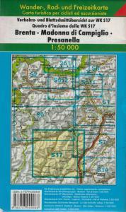 Carta escursionistica Brenta Madonna di Campiglio Presanella