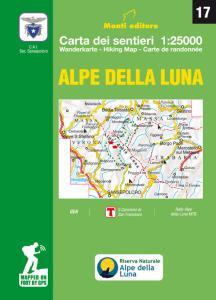 Alpe della Luna. Carta dei sentieri 1:25000. Ediz. multilingue