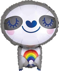 J/Shape Sloth With Rainbow Foil Ball Pack   S50 S