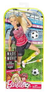 Mattel DVF69 - Barbie - Snodata - Sport - Calcio - Bionda