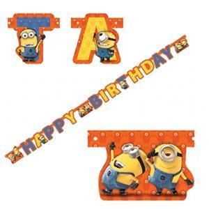 Minions: Scritta Happy Birthday