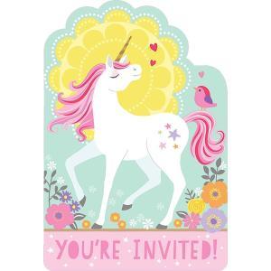 Magical Unicorn - 6 Inviti Con Busta