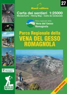 Parco Regionale della Vena del Gesso Romagnola. carta dei sentieri 1:25000