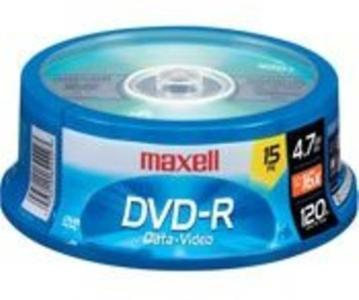Maxell 638006 Dvd-R 4.7Gb Write-Once 16X Recordabl