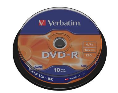 Verbatim - Verbatim Dvd-R 4,7Gb 16X 10Er