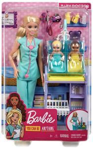 Mattel GKH23 - Barbie - Playset Carriere - Pediatra Bionda