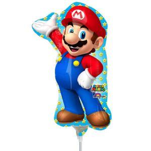 Minishape:Super Mario Pallone Foil Minishape Supermario Si Gonfia Ad Aria