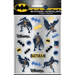 4 Batman Stick Sheet Qs. Set 4 Fogli Con Adesivi Batman