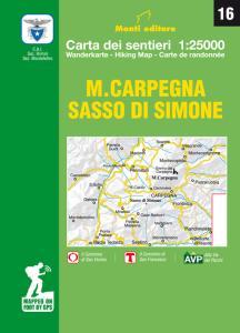 M. Carpegna, Sasso di Simone. Carta dei sentieri. Ediz. multilingue