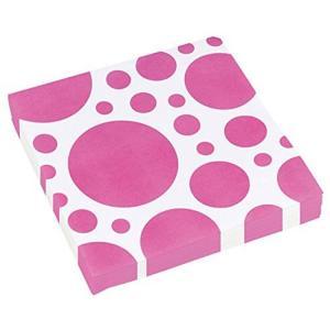 Amscan: Solid Colour Dots Pink - 20 Tovaglioli 33X33 Cm