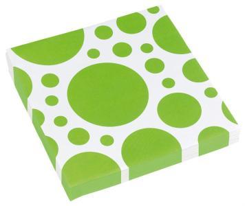 Amscan: Solid Colour Dots Kiwi - 20 Tovaglioli 33X33 Cm