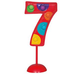 Flashing Number 7 Decoration                  Qs