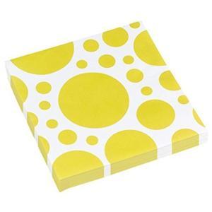 Amscan: Solid Colour Dots Yellow - 20 Tovaglioli 33X33 Cm