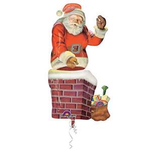 M/Balloon:Santa And Chimney                 P70 Sn