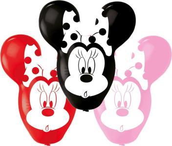 4 Latex Balloons Minnie Giant Ears 55.8Cm/22    Q. Palloni Lattice 22