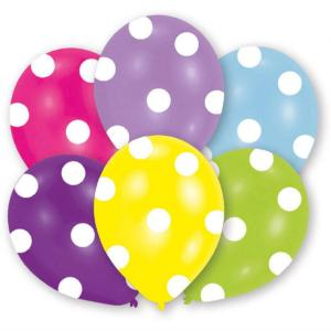 Balloon  Pk6 27.5Cm Polka