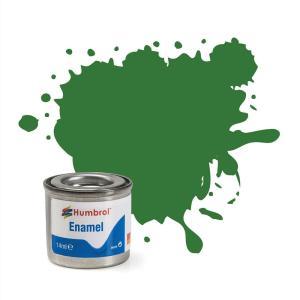 Humbrol No 131 Mid Green   Satin    Enamel Tinlet  No 1 (14Ml)