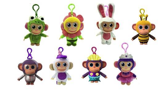 Wonderpark: Chimpanzombie In Peluche Profumato 8 Cm Con Clip On 8 Personaggi Diversi