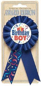 Amscan Award Ribbon Birthday Boy 15.2Cm