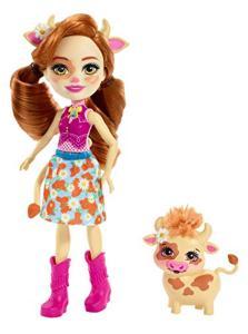 Mattel FXM77 - Enchantimals - Bambola Con Cucciolo Serie 2 - Cailey Con Mucca