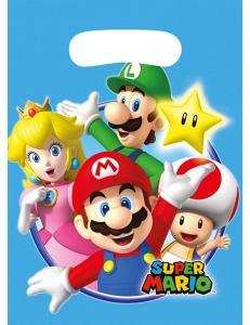 Super Mario Uitdeelzakjes 8St.