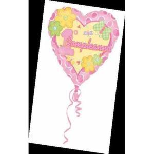 Palloncino Mylar  1o Compleanno Rosa