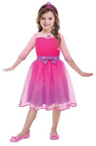 Girls' Costume Barbie Princess 5 - 7 Years