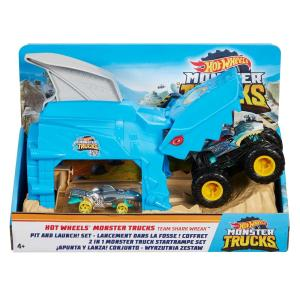 Mattel GKY03 - Hot Wheels - Monster Trucks - Garage Lanciatore Team Shark Wreak