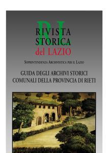 Guida agli archivi storici comunali della provincia di Rieti