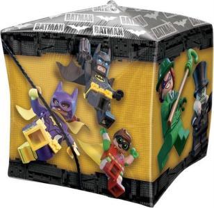 Amscan: Cubez Lego Batman Foil Balloon / DC Comics - Palloncino in Foil Lego Batman