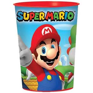 Witbaard: Super Mario Kunststof Beker