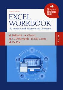 Excel workbook. 160 exercises with solutions and comments. Con ebook