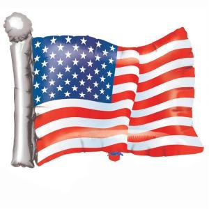 Anagram: Pallone Foil Supershape 68 cm Bandiera Americana / American Flag Supershape