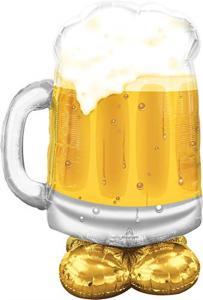 Airloonz Big Beer Mug 78X124 Cm             P70 Q. Pallone Foil Airloonz Big Beer Mug 78X124 Cm - Si Gonfia Ad Aria