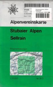 Carta escursionistica - Sellrain - Stubaier Alpen