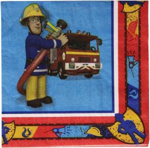 Sam Il Pompiere -  20 Tovaglioli Carta Doppio Velo 33x33 Cm