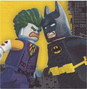 20 Servietten Lego Batman 33 X33 Cm. Tovagliolo 33 X 33 Cm Lego-Batman