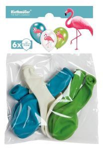 Witbaard: 6 Balloons 4C Flamingo Paradise 27.5 Cm/11