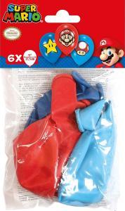Super Mario Latex Ballonnen 6St.