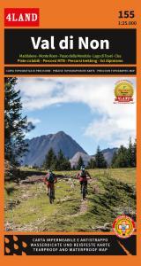 Val di Non. Carta topografica impermeabile 1:25.000 n. 155. Maddalene-Monte Roen-Passo della Mendola-Lago di Tovel-Cles