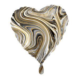 Standard Marblez Black Heart Foil Balloon S S18 Q