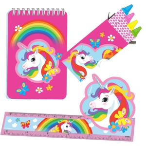 Stationary Favor Set Unicorn 20 Pieces