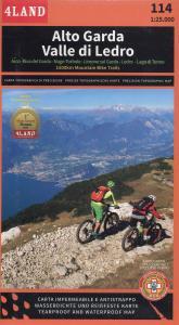 Alto Garda. Valle di Letro. Carta topografica di precisione 1:25.000 n. 114