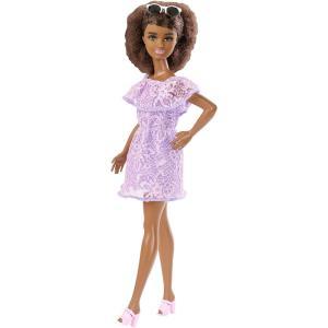 Mattel FJF53 - Barbie - Fashionistas - 93 Nera Big Hair Vestito Viola